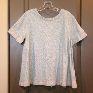 Lisa Todd Cotton Short Sleeve Top With Tie Size M